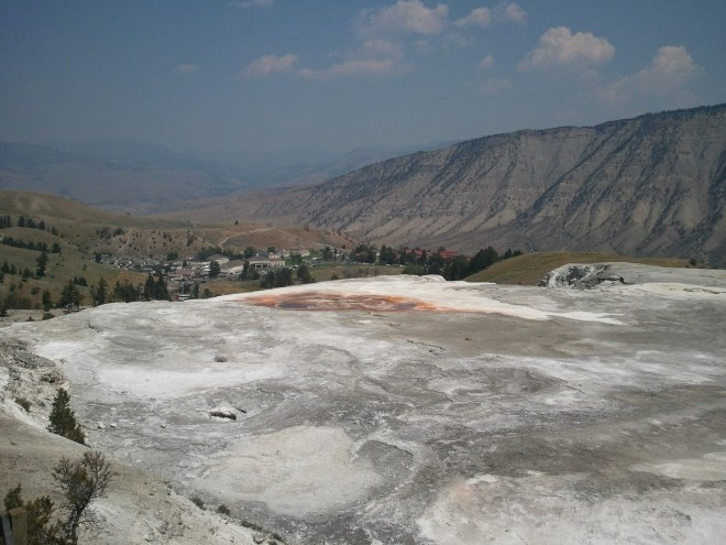 Mammoth Hot Springs is the largest travertine terrace in the world.