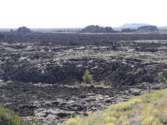 Lava flow at Craters of the Moon National Monument.