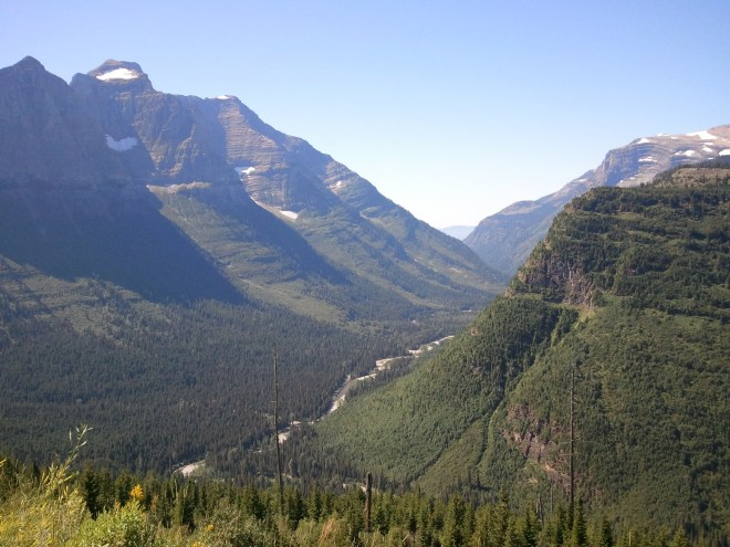 Looking WSW from Going-to-the-Sun Road.