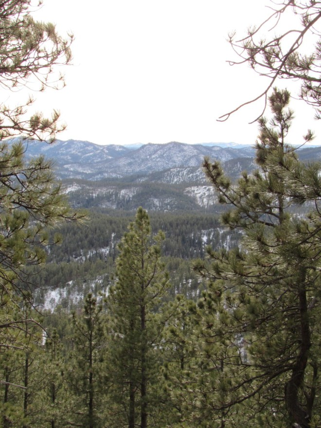 A glimpse to the SW from the S end of Merritt Peak.