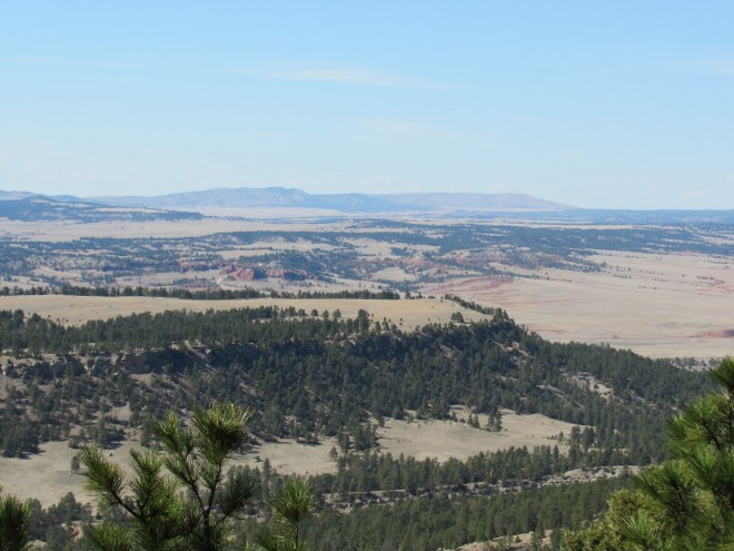The best view from Matias Peak was toward Wildcat Peak (5,500 ft.) (L of Center) and Elk Benchmark (5,669 ft.) (R). Photo looks NNW using the telephoto lens.