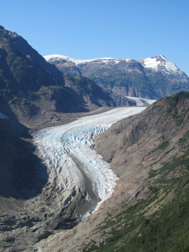 S tongue of the Salmon Glacier. Photo looks N.