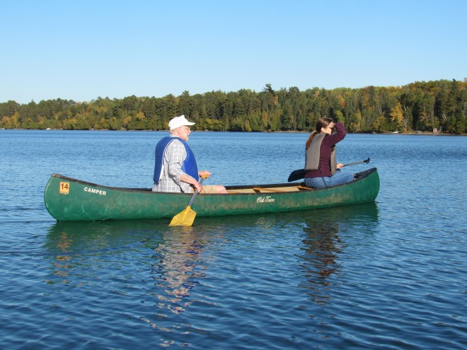 John and Laura in Canoe No. 1 of Lupe's fleet.