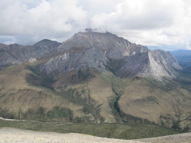 Looking SE toward the true summit of 5,765 ft. Wiehl Mountain.