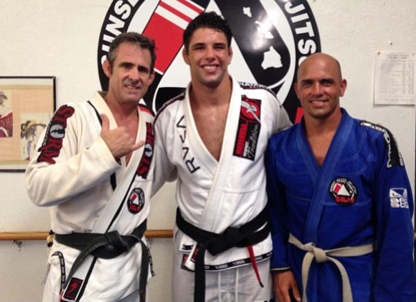 Kelly Slater's Pipeline Masters training? Brazilian jiu-jitsu