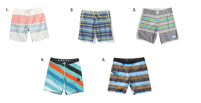 18bf1c5ed07a5 swim trunk. Cover up in stripes this summer with one of these boardshort  options.