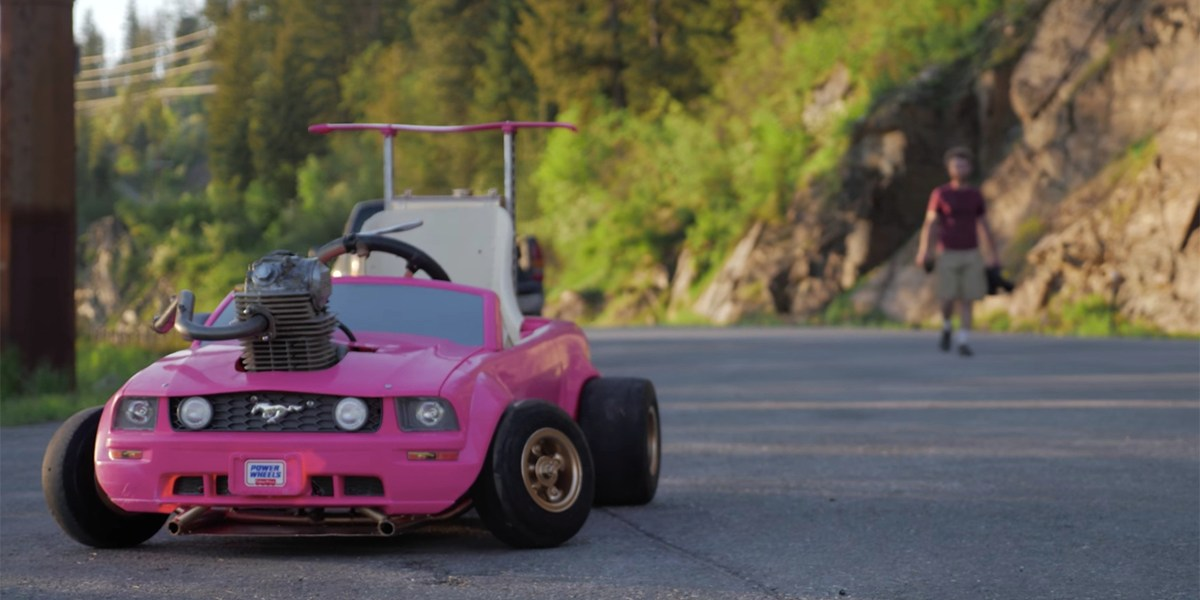 These Guys Put a 240cc Dirt Bike Engine Into a Pink Power Wheels Car