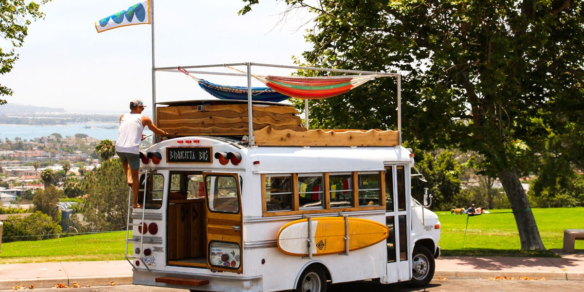 Van Tours: Exploring This Artist's Completely Customized Chevy School Bus