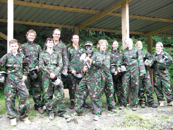 Paint-balling activity days with Adventures Wales