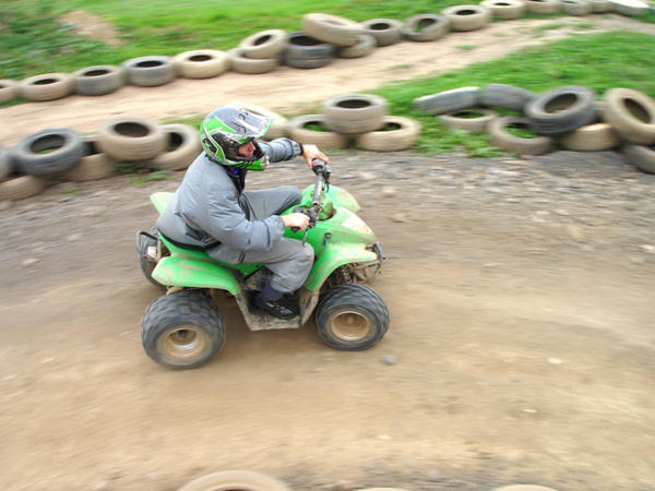 Student Quad Biking At Adventures Wales