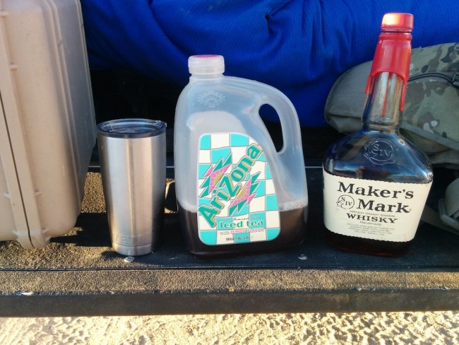 Maker's Mark bourbon and Arizona brand iced tea