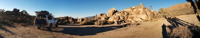 Morning panorama in this high desert wonderland