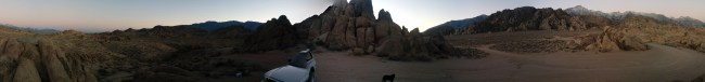 funky panorama around our campsite in the Alabama Hills