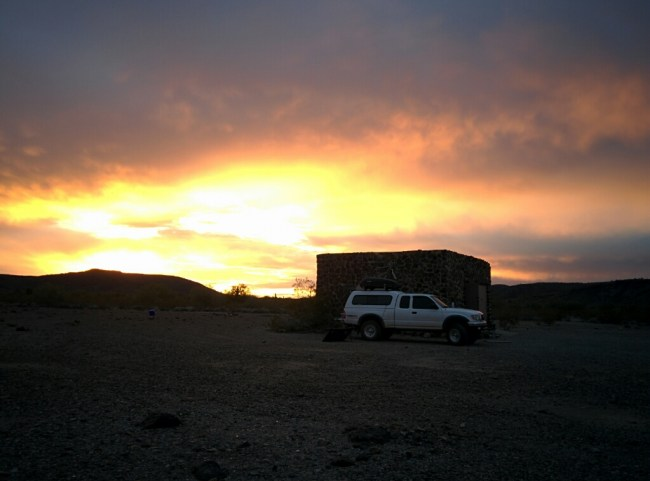 Desert Sunset Over the Kofa Cabin