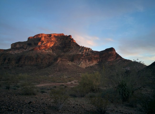 Sunset Right of Butte