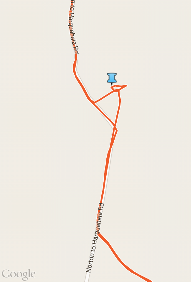 GPS track of our detour to the water collection setup