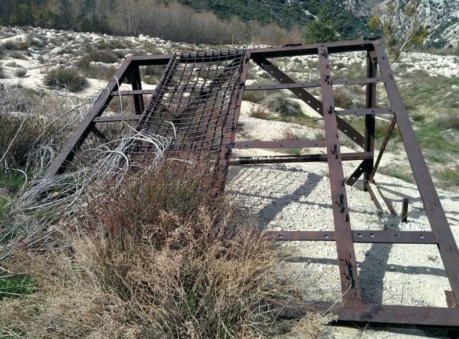 big, rusty, steel contraption