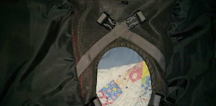Underside of the Pack Portion Showing the Four Attachment Clips
