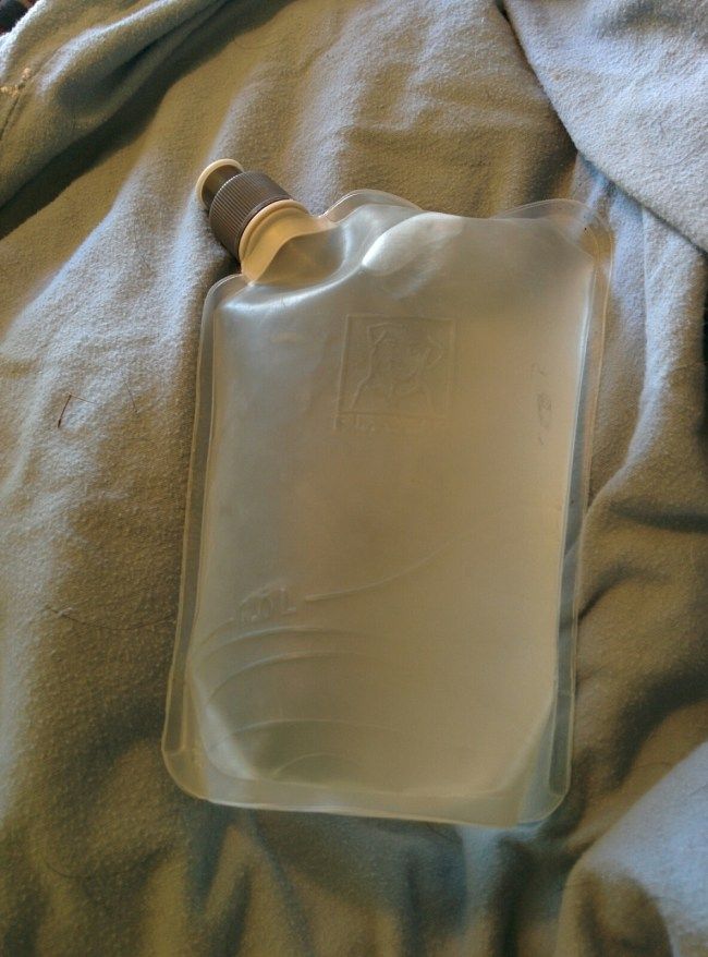 One of the Two Included Soft Silicon Water Bottles