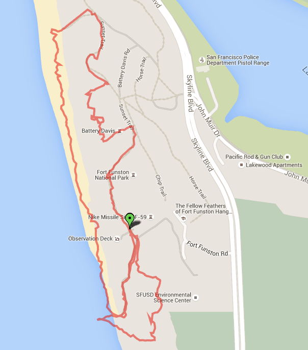 The GPS Track for the First Half of the Day