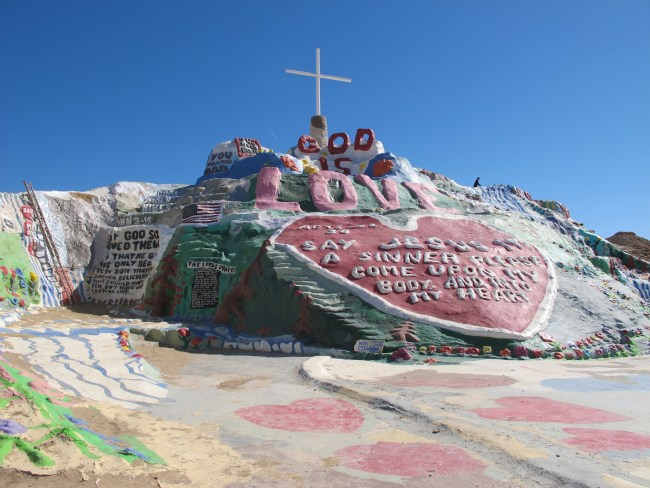 Front of Salvation Mountain