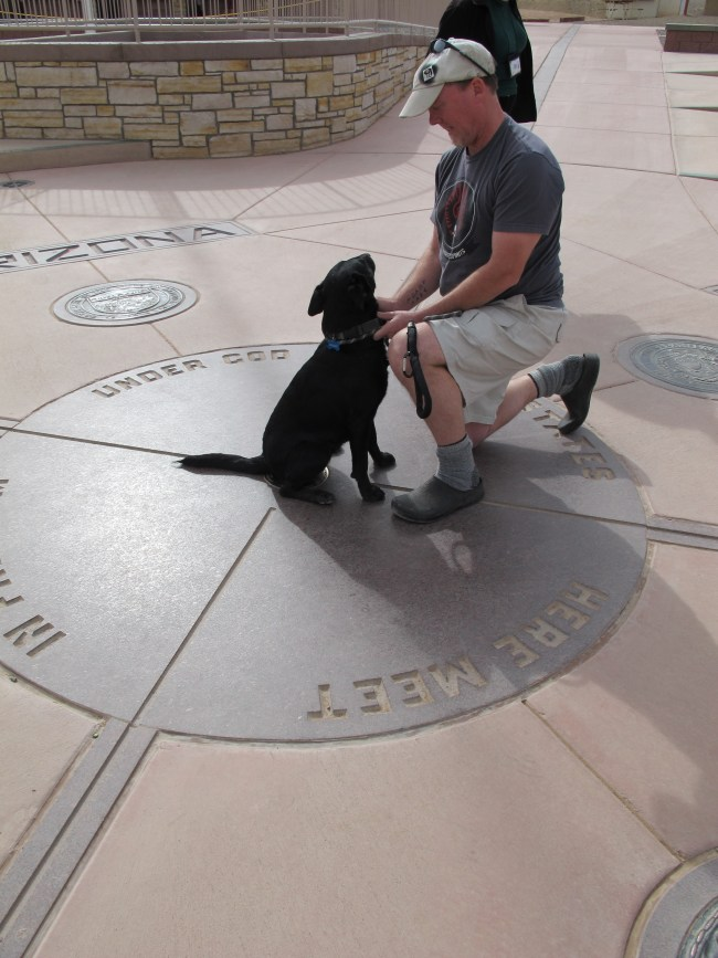 Willow and I on the Monument itself