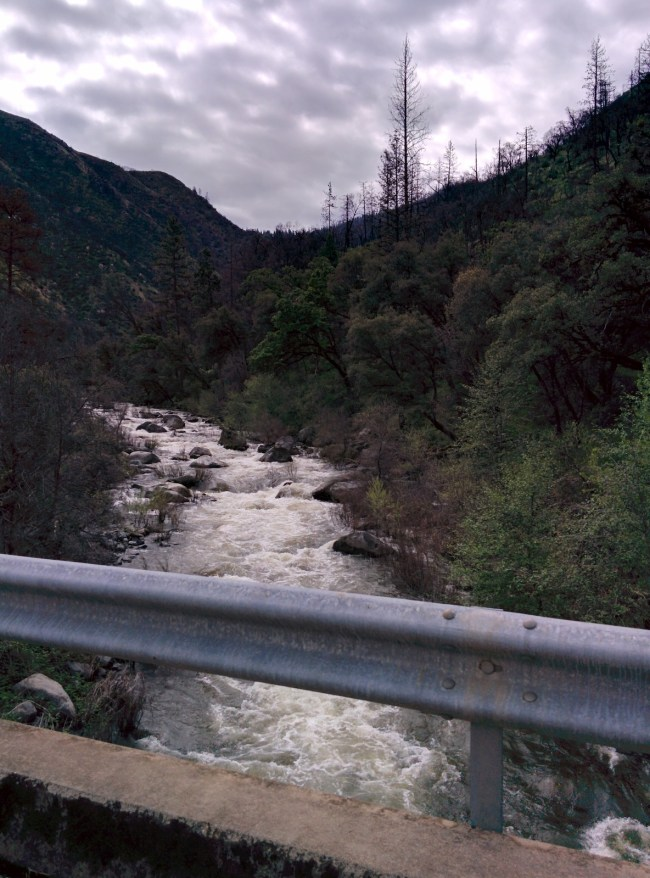 The Bridge and a View of the South Fork of the Tuolumne River