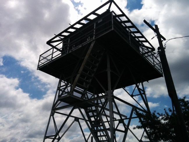 A Look Up at the tower From the Base