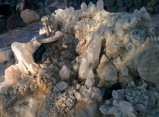 Quartz And Other Crystal Formations Embedded Into The Main Pool's Structure