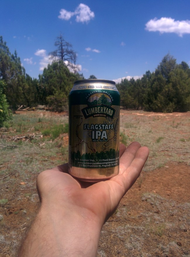 Flagstaff IPA can in my hand