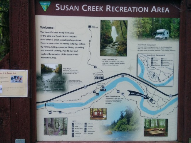 Sign In The Campground Showing The General Area