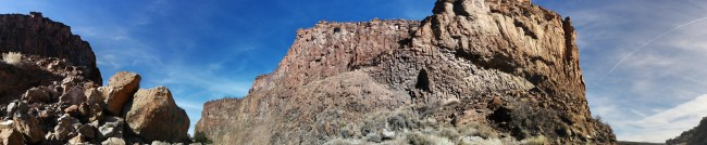 partial panorama of some of the geological features inside Diablo Canyon