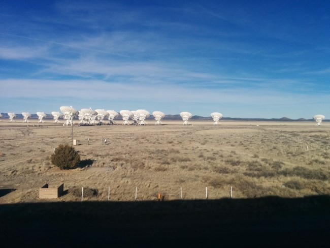 View of the Array from the 2nd stoy of the Control Building