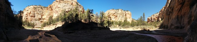 partial panorama Showing Willis Creek On The Left Meeting Sheep Creek On The Right