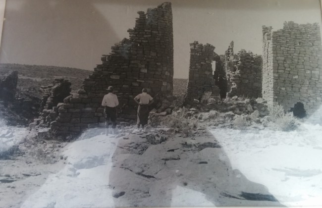 Picture Taken In 1935 before portions of Hovenweep Castle were stabilized
