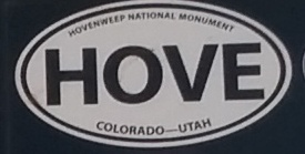Hovenweep National monument sticker Stuck On One Of Our Camper Shell Windows