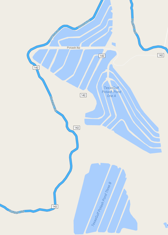Map Of Many Of The Salt Ponds In The Area