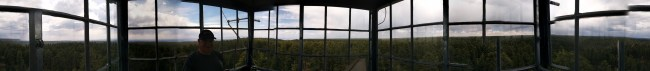 Panorama From Inside The Lookout