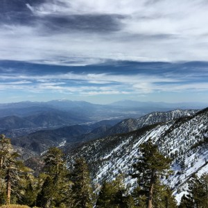 San Gorgonio to the Left, San Jacinto to the Right, and San Antonio (Baldy) right behind me