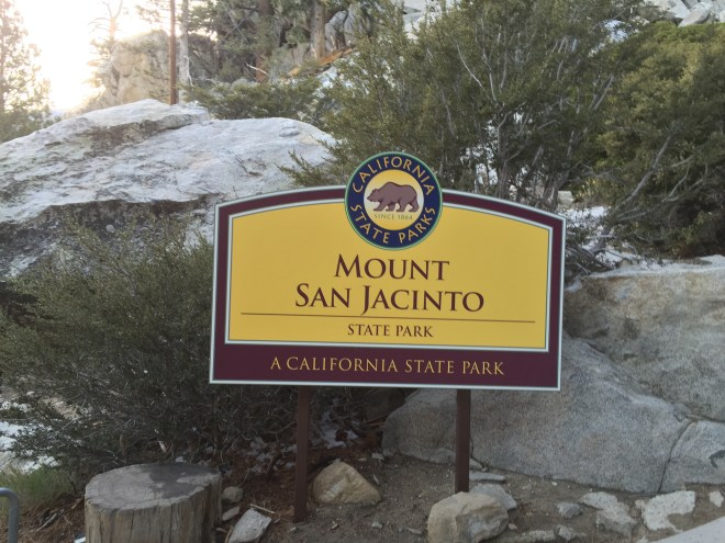 The Mount San Jacinto State Park sign