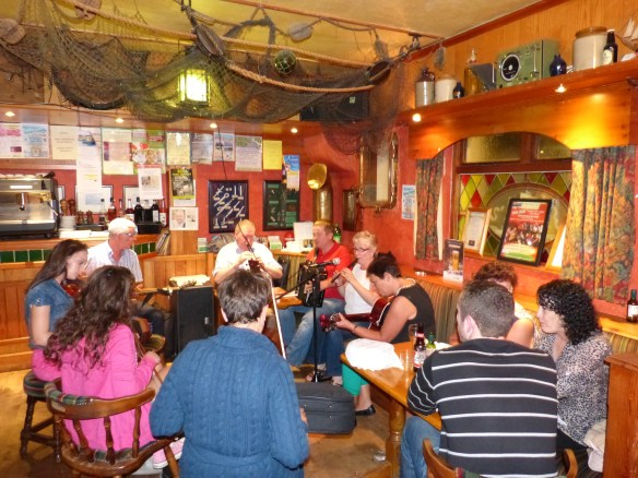 The Portmagee Musicians at the Moorings. Ger is on Guitar
