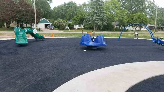 Allouez Wisconsin | Poured in Place Playground Surface Expansion | adventureTURF