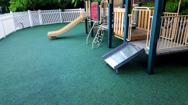 Newly Replaced Playground Surface for Daycare Facility in New York | adventureTURF-Playground Surfacing Company