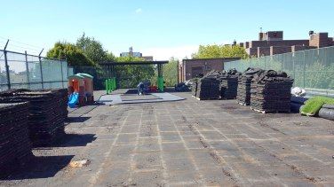 Removed Rubber Playground Tiles for Replacement | Daycare Brooklyn, NY | adventureTURF