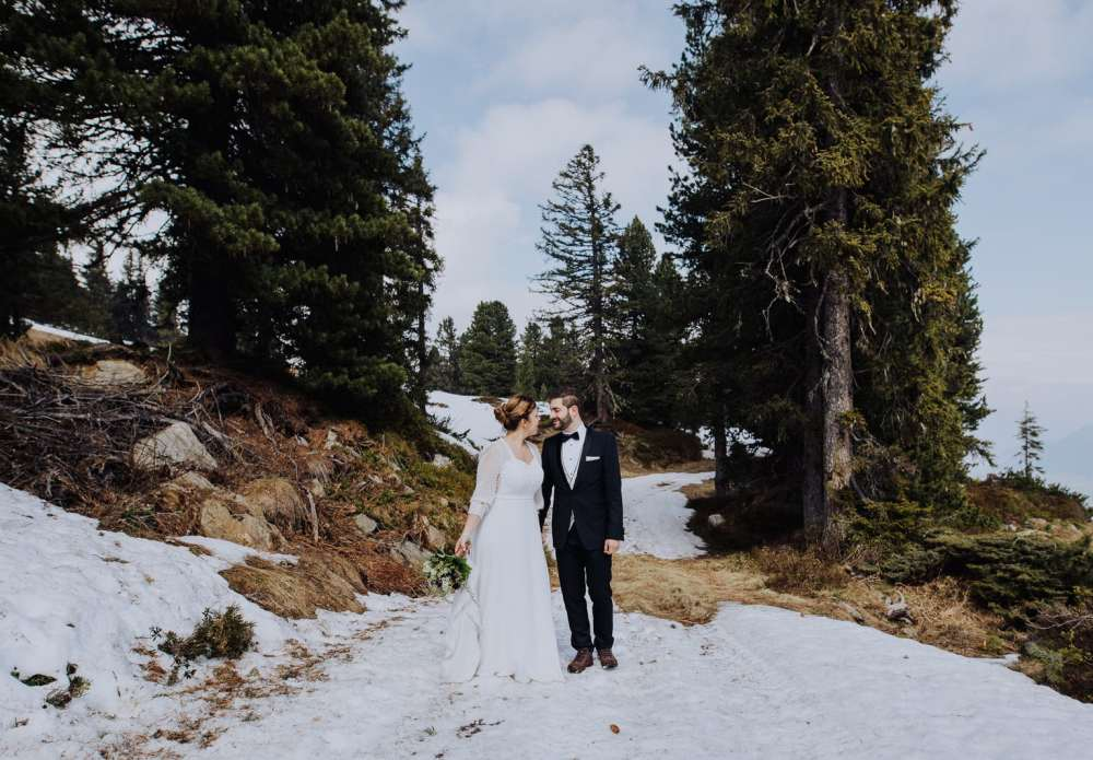 Honeymoon adventure wedding shoot in the Alps by Wild Connections Photography