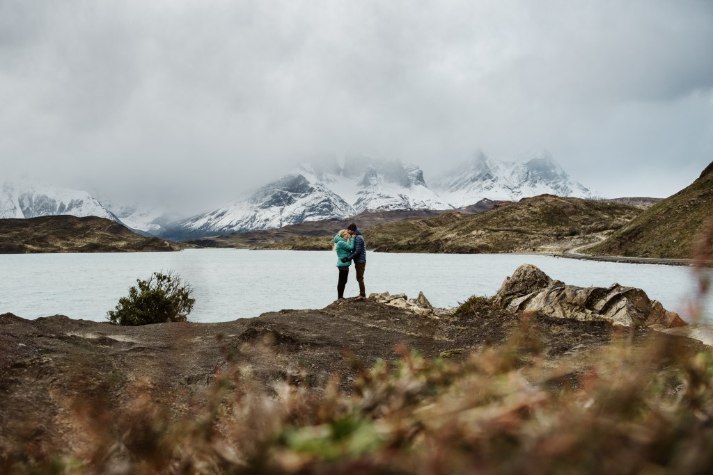 A tripod selfie in Patagonia by Wild Connections Photography