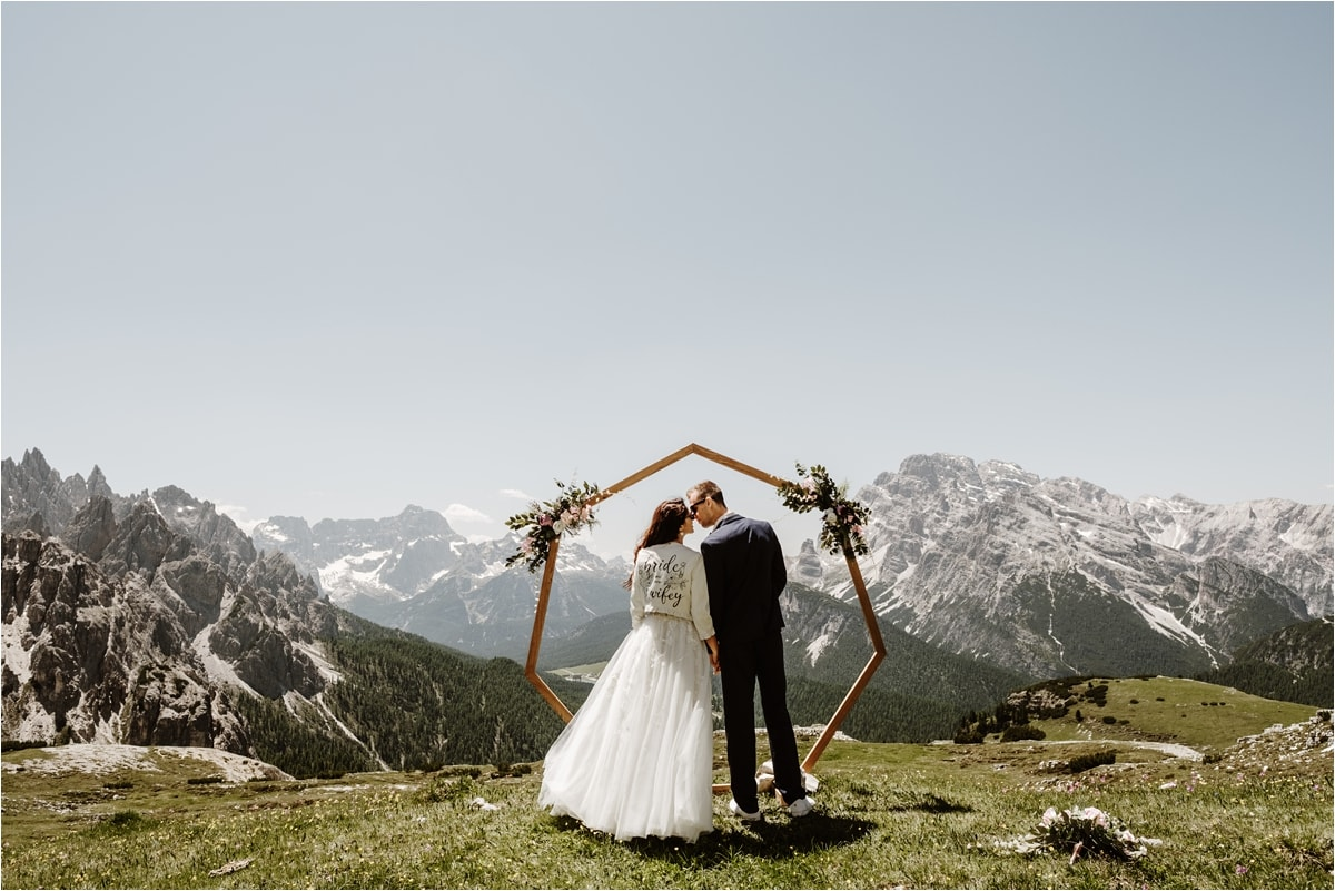 Elopement ceremony in the Dolomites by Wild Connections Photography