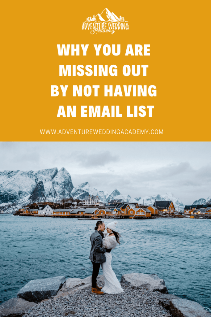 Why you need an email list Pinterest post