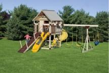 Happy Hideout Playset Package With Swings & Slide #h68-7