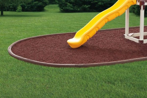 recycled rubber mulch curbing